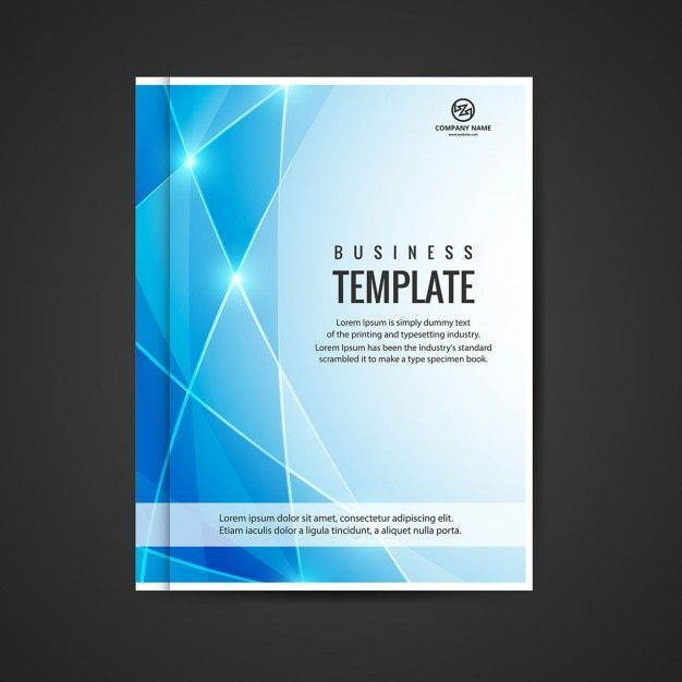 blue shiny business booklet vector free download