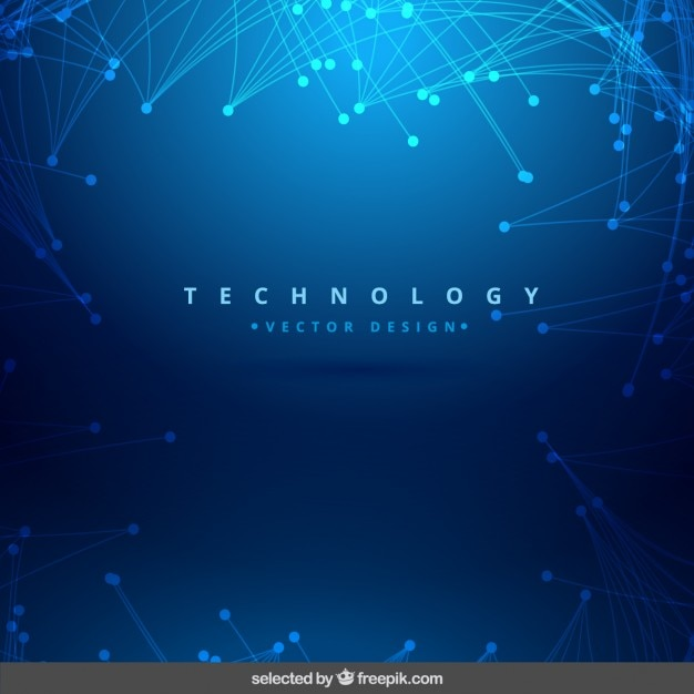 Blue shiny technology background Vector | Free Download
