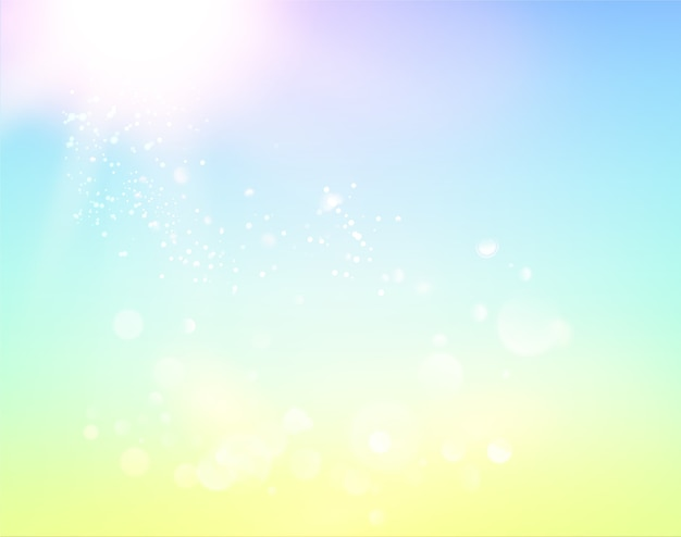 Blue sky and abstract light background. Free Vector
