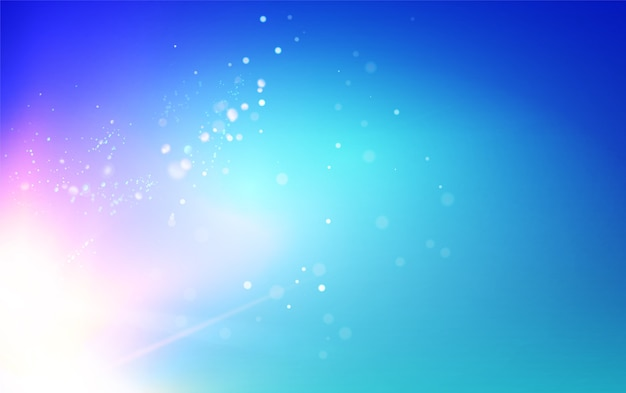 Blue sky and abstract light flash background. Free Vector