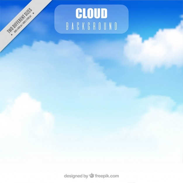 Blue sky background with realistic\ clouds