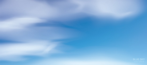 Blue sky background with white clouds. Premium Vector