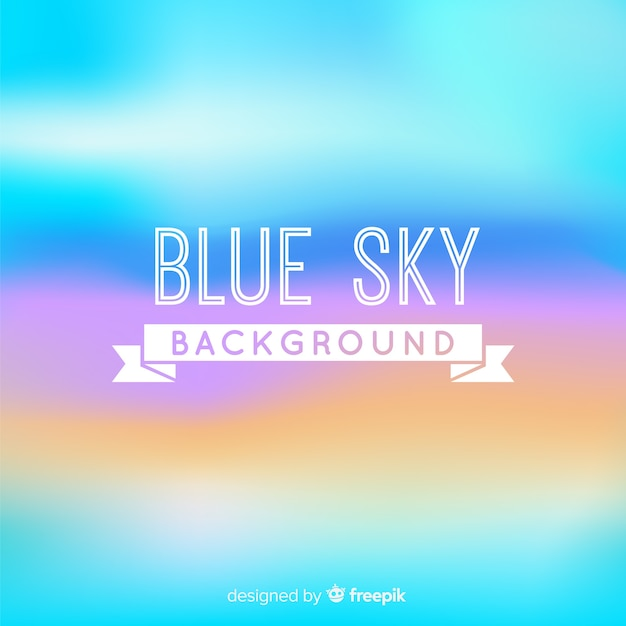 Blue sky backround Free Vector