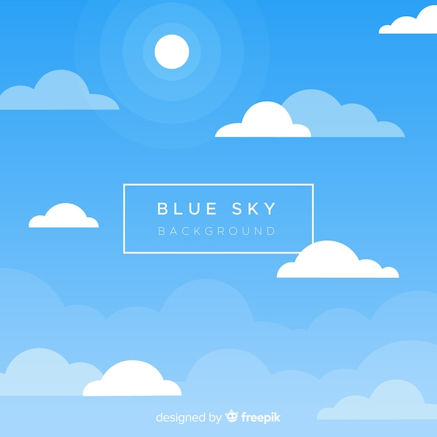 Blue sky backround Free Vector