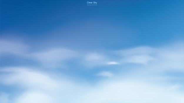 Blue sky and clouds. Premium Vector