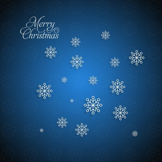 Blue snowflakes background Free Vector