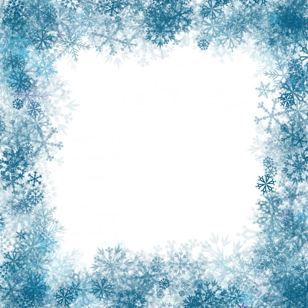 Blue snowflakes frame Vector | Free Download