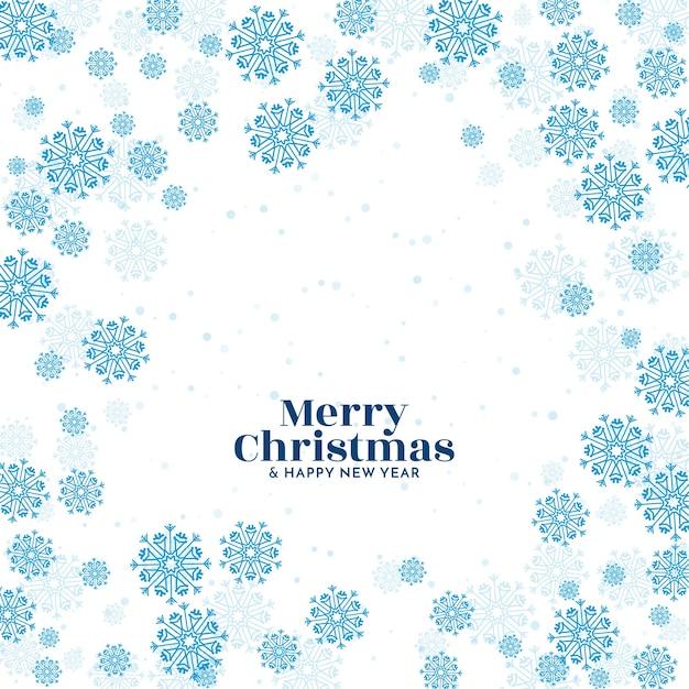 青い雪メリークリスマスフェスティバル挨拶の背景 無料ベクター