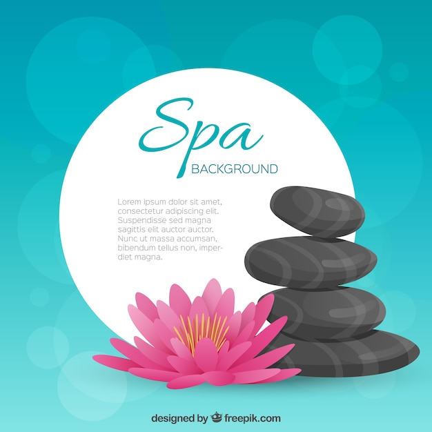 blue spa template background vector free download