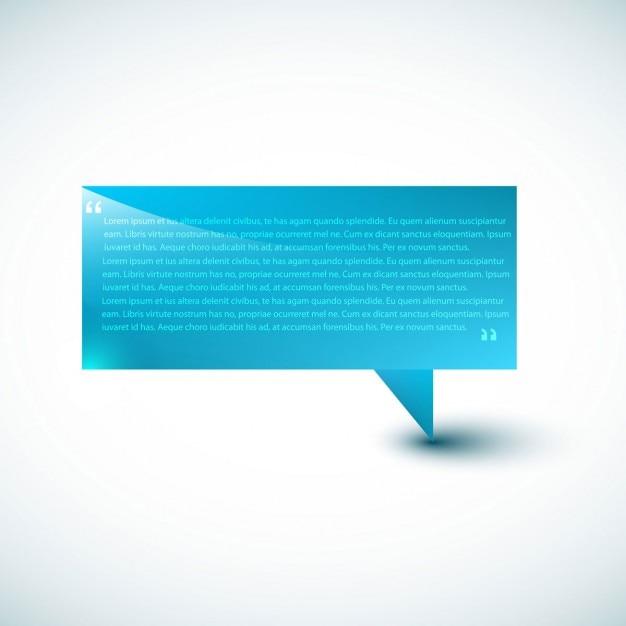 Blue Speech bubble Template