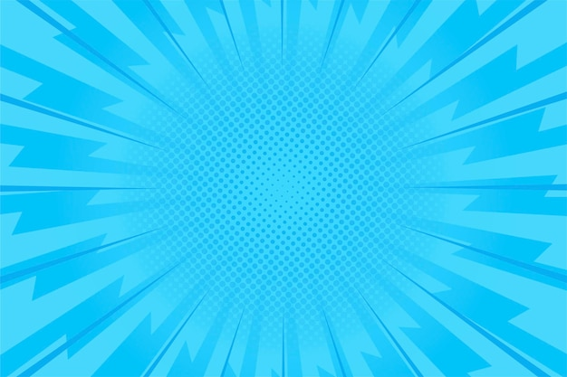 Blue speedcomic style background Free Vector