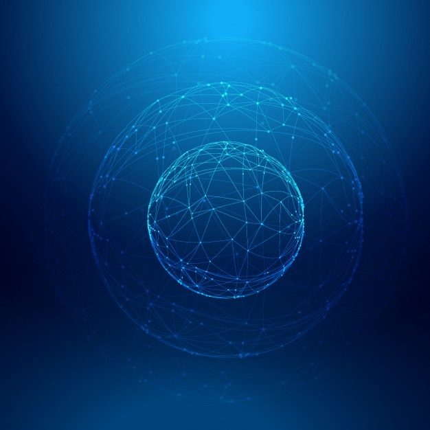 Blue sphere Background Free Vector