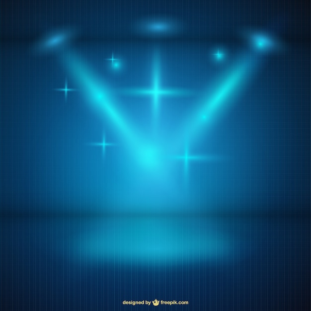 Blue spotlight background Vector | Free Download