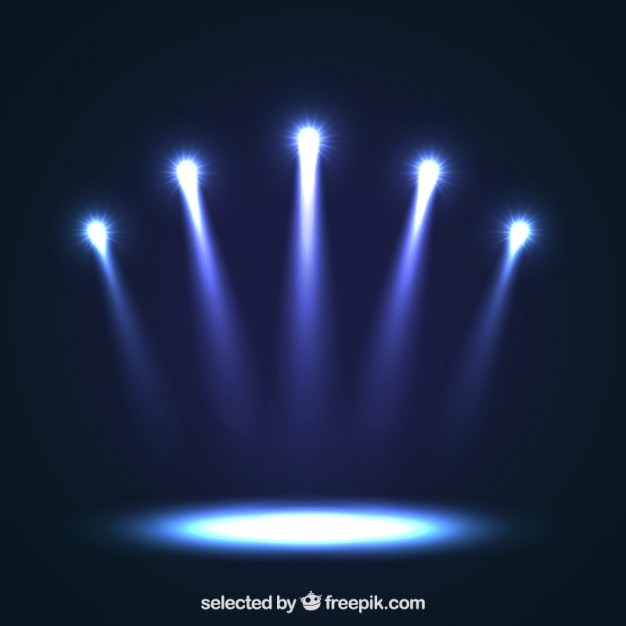 Blue Spotlights Vector Free Download