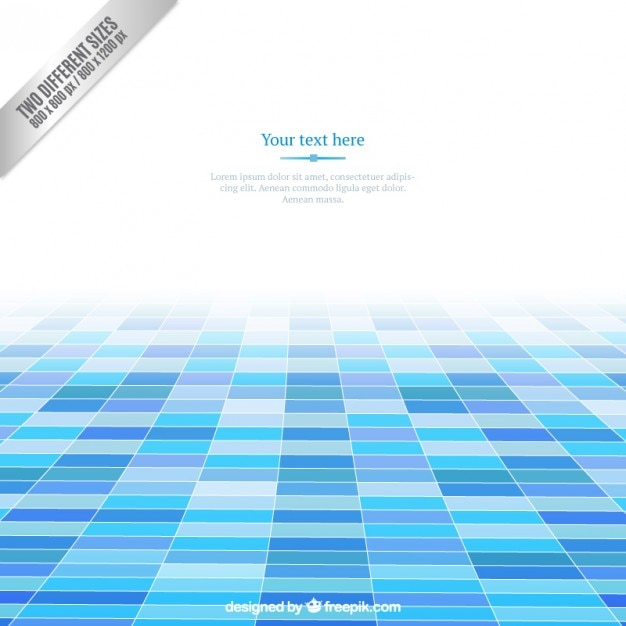 Blue squares background Premium Vector