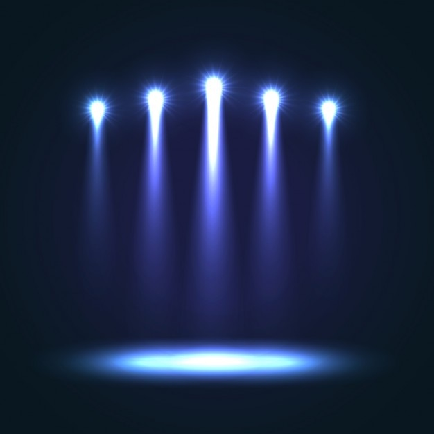 blue stage background vector free download