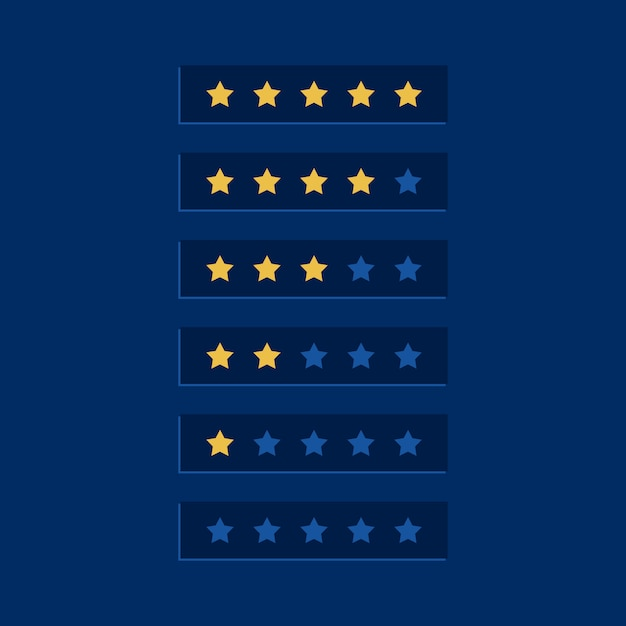 Blue star rating symbol design Free Vector