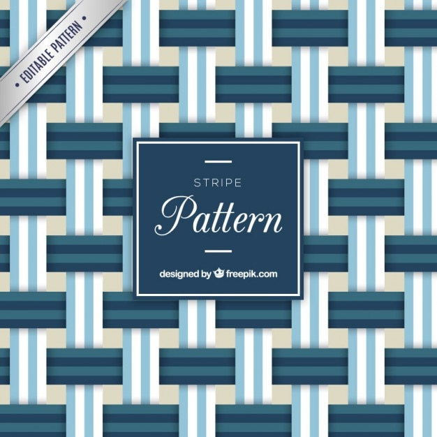 Blue stripes pattern Free Vector