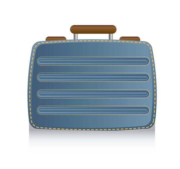Blue suitcase business over white background vector illustration Premium Vector