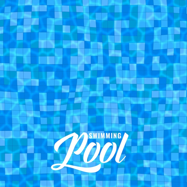 Blue swimming pool background with caustics Free Vector