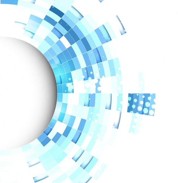 Blue technological background with abstract geometric ...