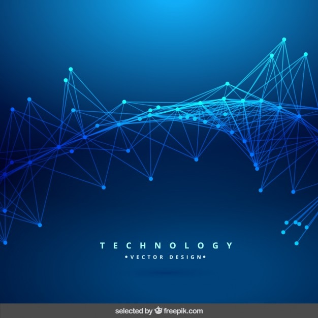 Blue technology abstract background Vector | Free Download