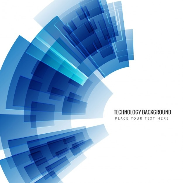 Blue technology background Vector  Free Download