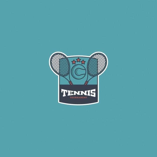 blue tennis logo vector free download