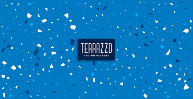 Blue terrazzo pattern tiles texture background Free Vector