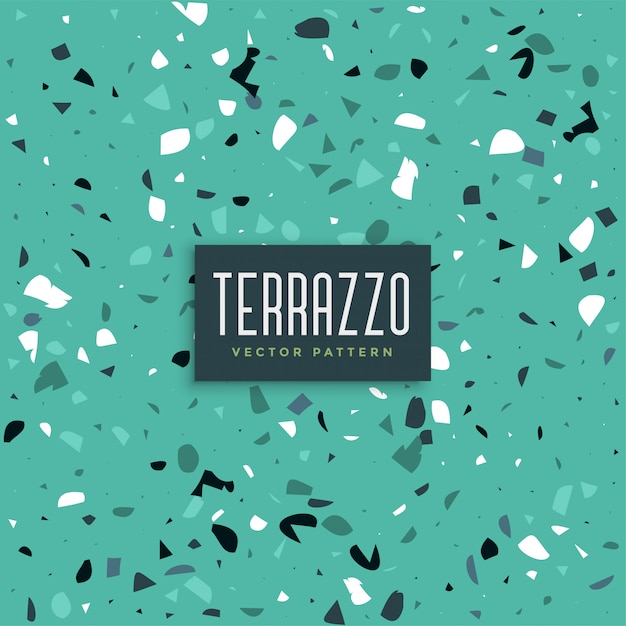 Blue terrazzo texture pattern background Free Vector
