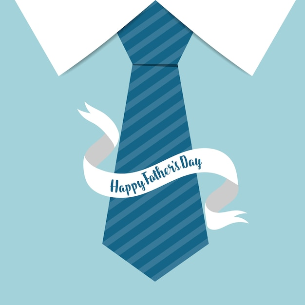 Blue tie with ribbon father's day background | Free Vector