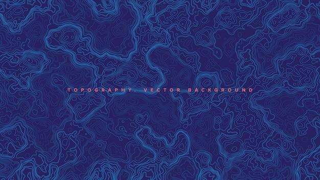 Голубая топографическая контурная карта Premium векторы