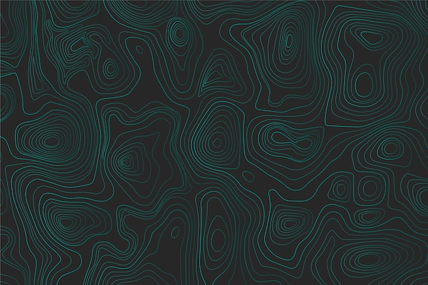 Blue topographic map wallpaper Free Vector