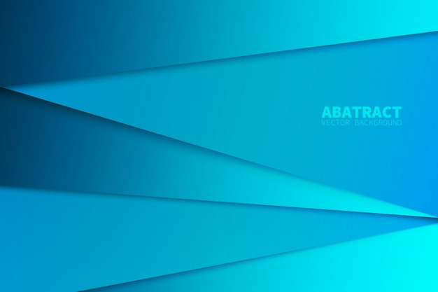Blue triangle vector background Premium Vector