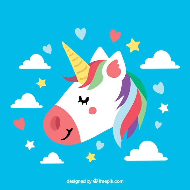 blue unicorn background with closed eyes vector free download fairytale clip art creative commons fairy tale clipart images