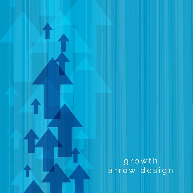 Blue upward arrow vector background Free Vector