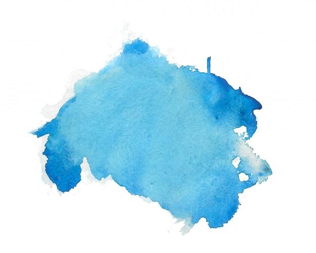青い水彩抽象染色テクスチャ背景 無料ベクター