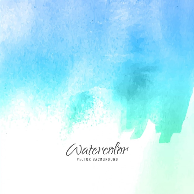 Blue watercolor background design Free Vector