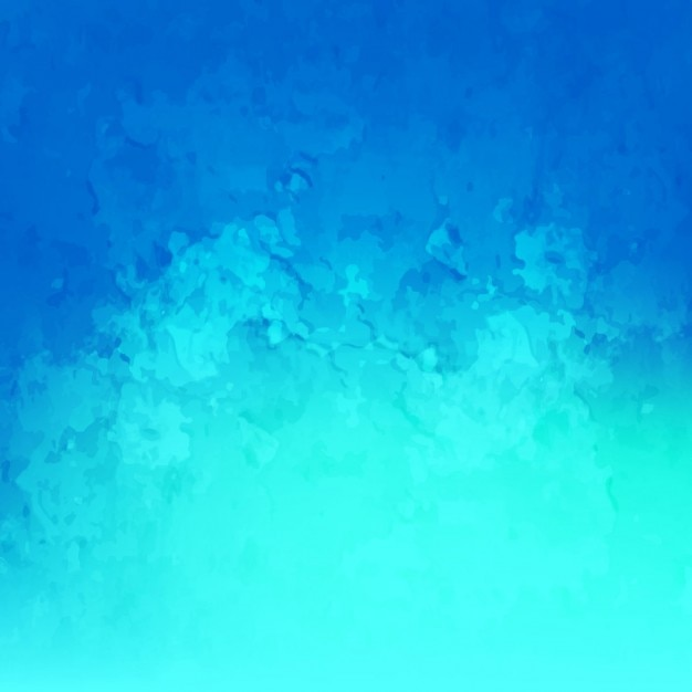 Blue watercolor background Free Vector