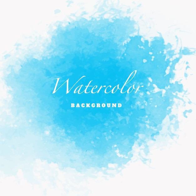Blue watercolor design template Free Vector