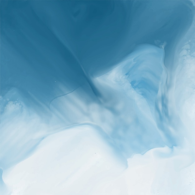 Blue watercolor flow texture background Free Vector