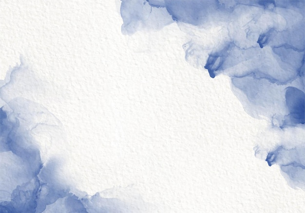 블루 수채화 유체 그림 디자인 카드 염료 스플래시 스타일. 알코올 잉크 무료 벡터