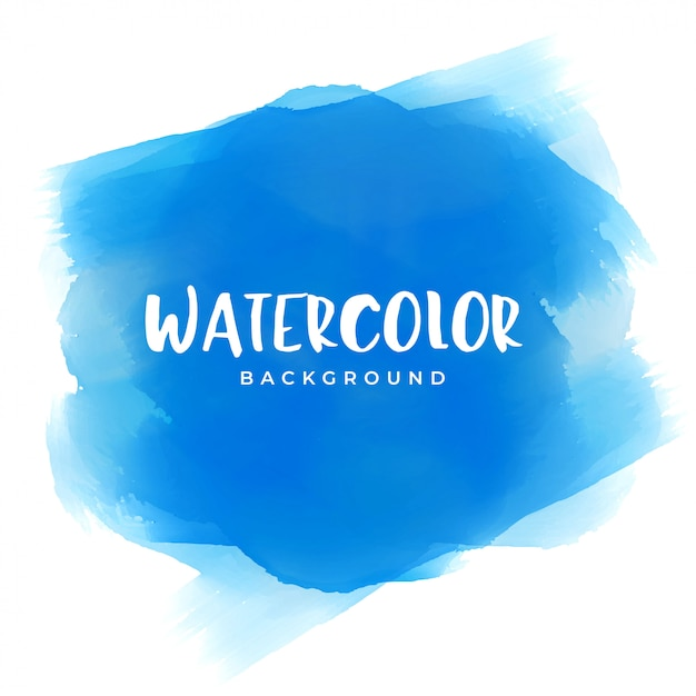 Blue watercolor paint texture background Free Vector
