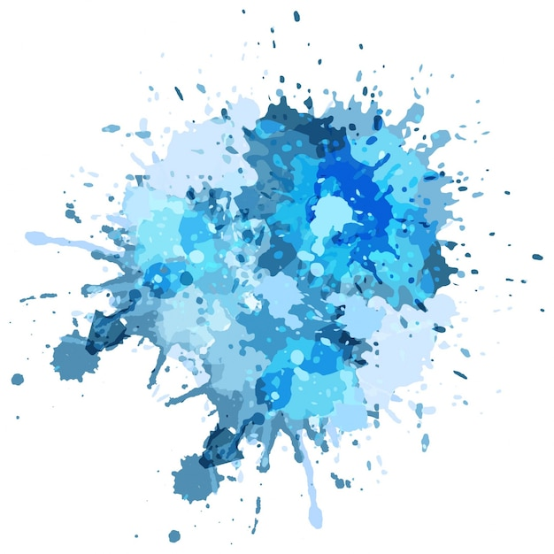 Blue watercolor splash background Free Vector