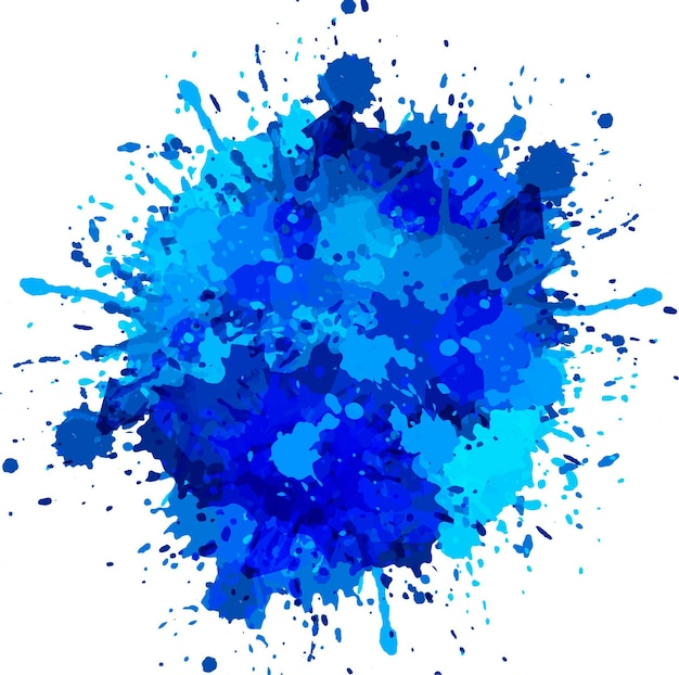 Pic Of A Blue Paint With A Drop Of Black