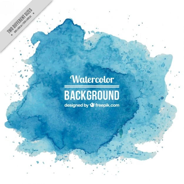Blue watercolor splashes background Premium Vector