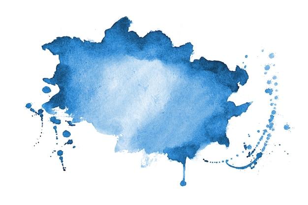 青い水彩スプラッターテクスチャステイン背景デザイン 無料ベクター