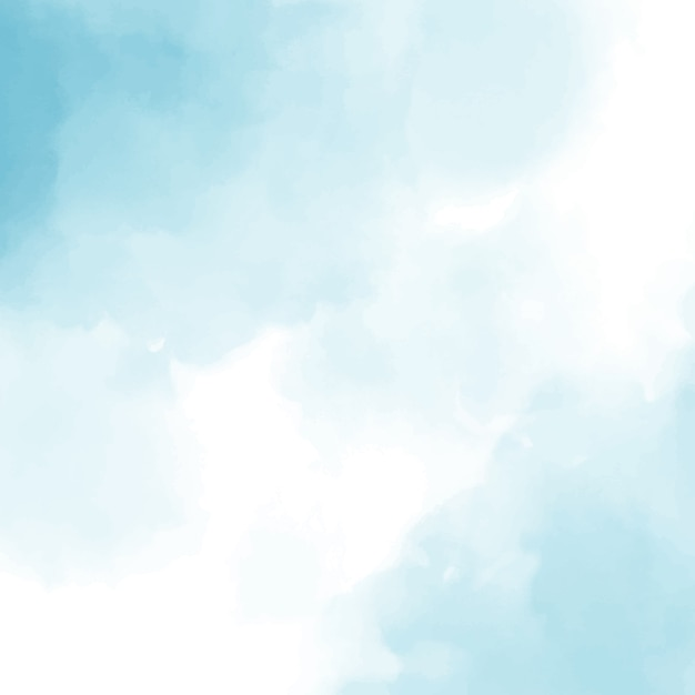 Blue watercolor square background Premium Vector