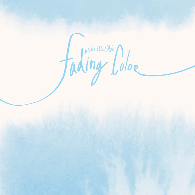 Blue watercolor style banner vector Free Vector