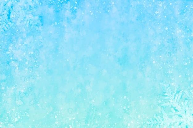 Синий акварельный зимний фон Бесплатные векторы